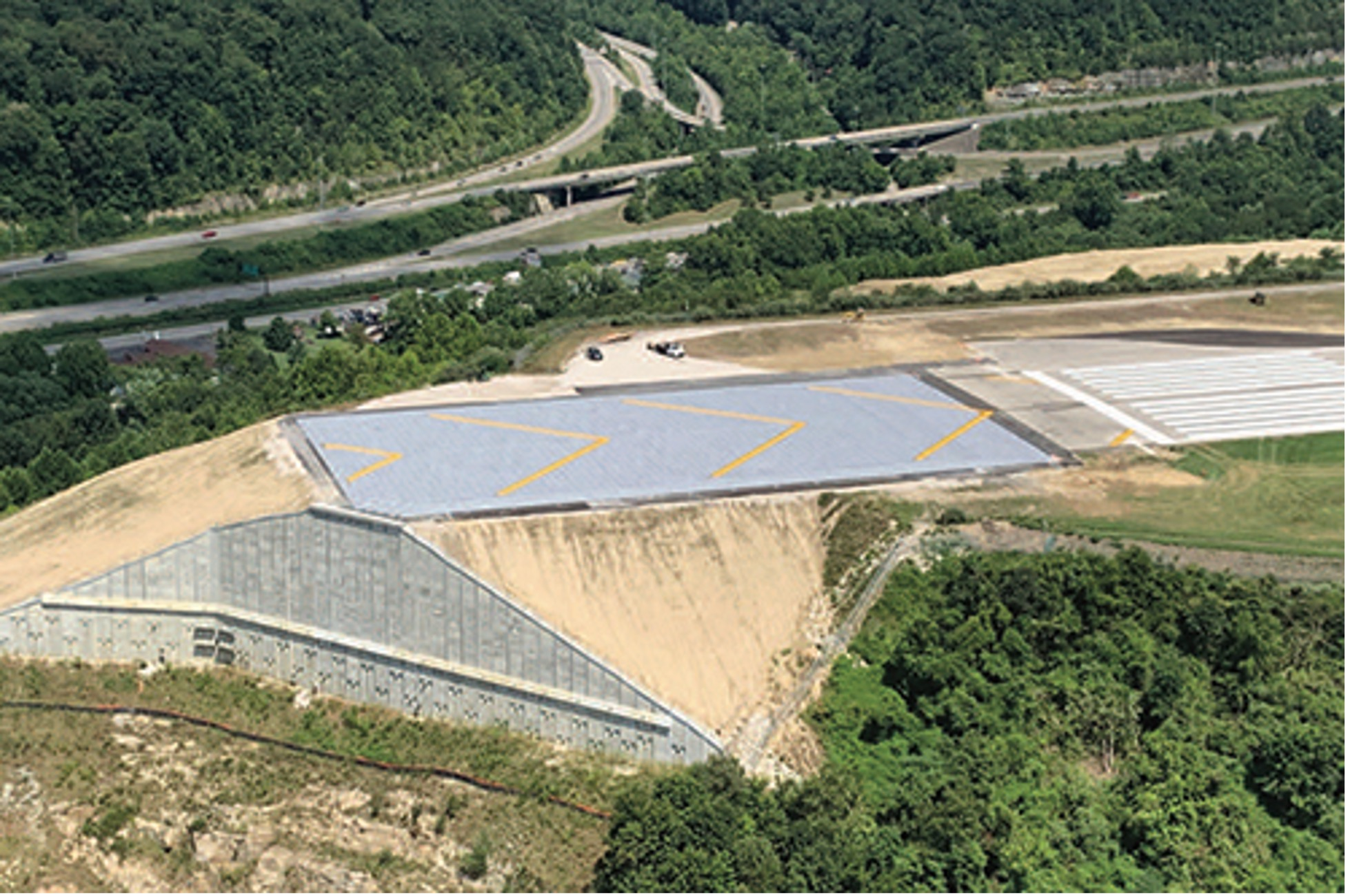 Geotechnical instrumentation helped monitor slope stability following a landslide.
